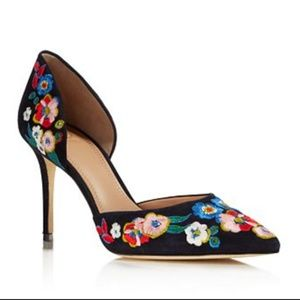 Tory Burch Rosemont Embroidered d'Orsay Pumps